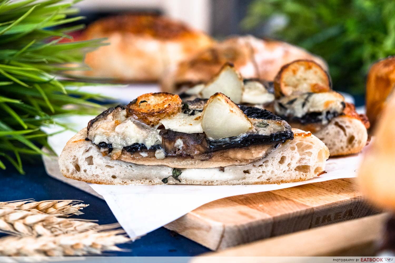pickle bakery - portobello mushroom cap with gruyere tartine (1)