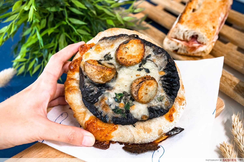 pickle bakery - portobello mushroom cap with gruyere tartine (2)