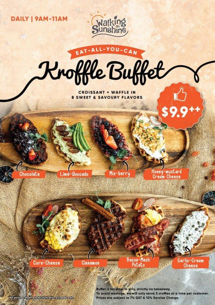walking on sunshine kroffle buffet