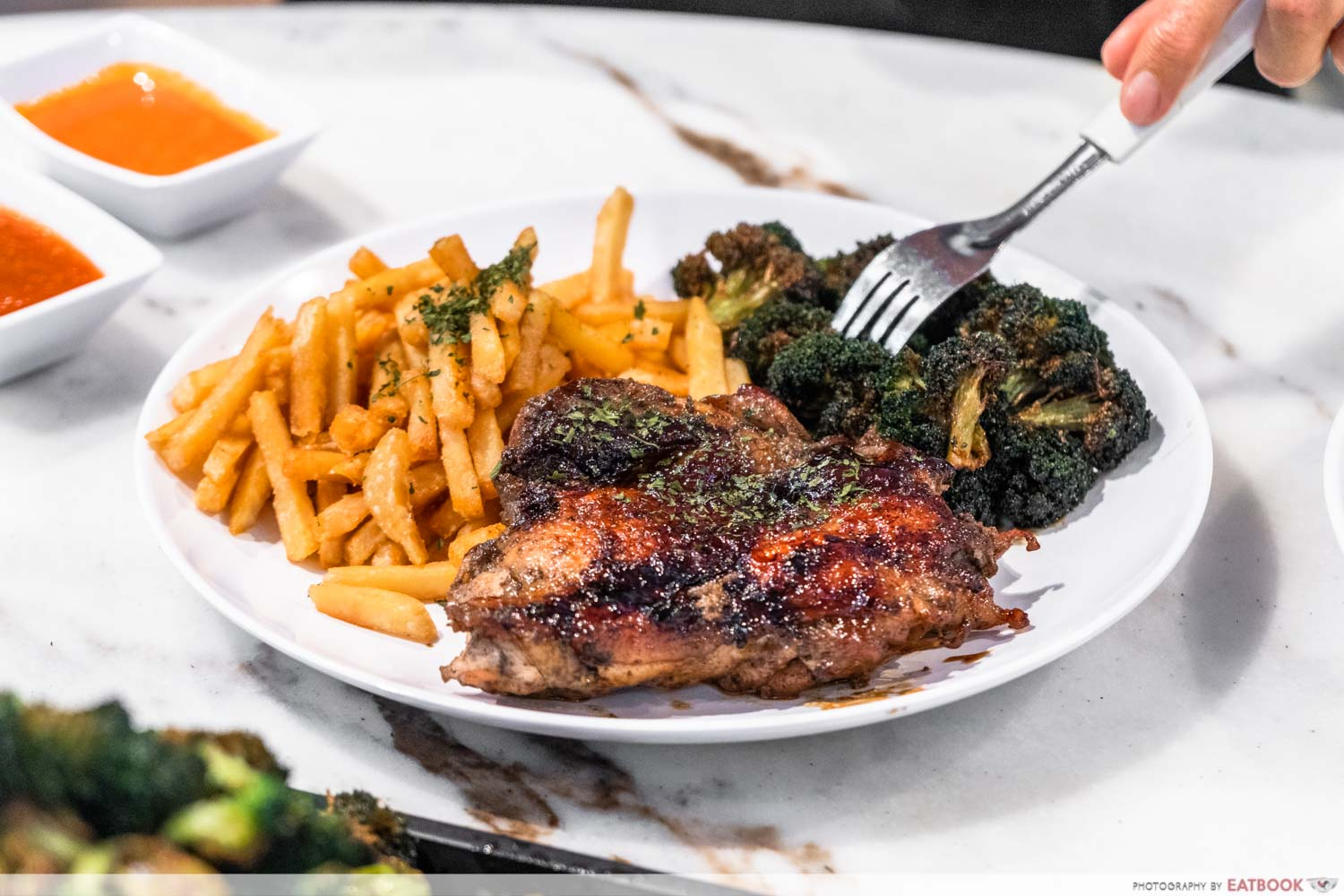 Chef Bui Bui - signature chicken chop