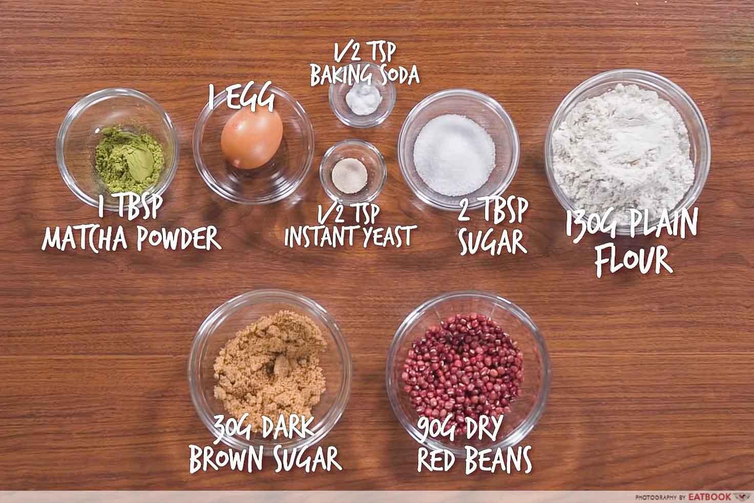 IG-worthy min jiang kueh - red bean mjk ingredients