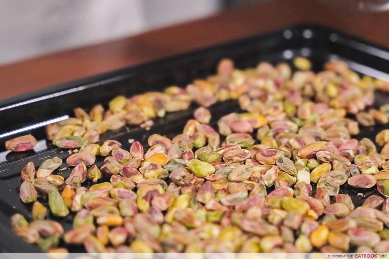 IG-worthy min jiang kueh - roasted pistachio