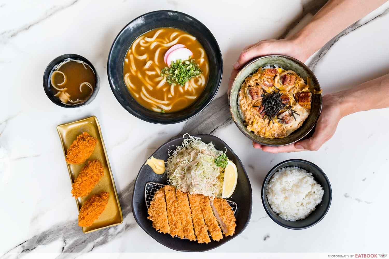 Maruhachi Donburi & Curry - flatlay