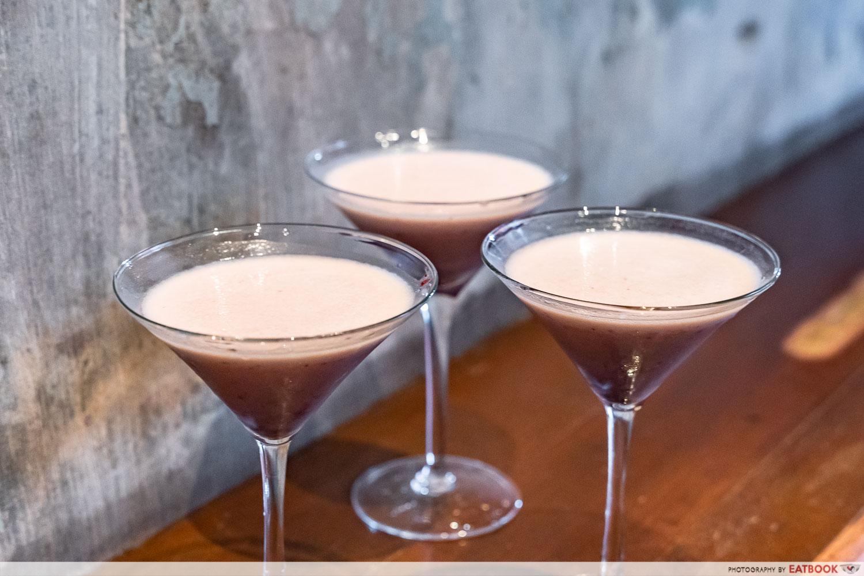 No 5 emerald hill - red bean martini