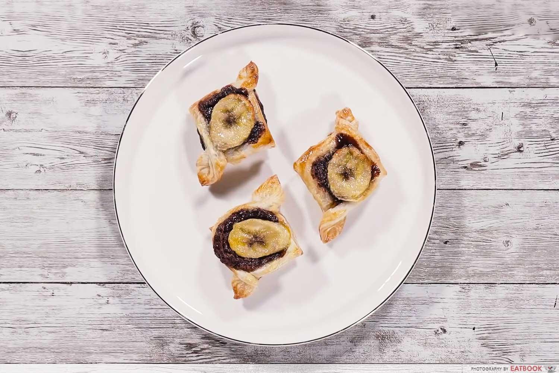 frozen prata recipes - banana nutella pockets