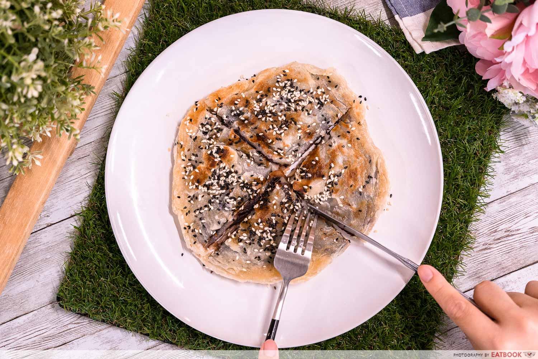 frozen prata recipes - red bean pancake