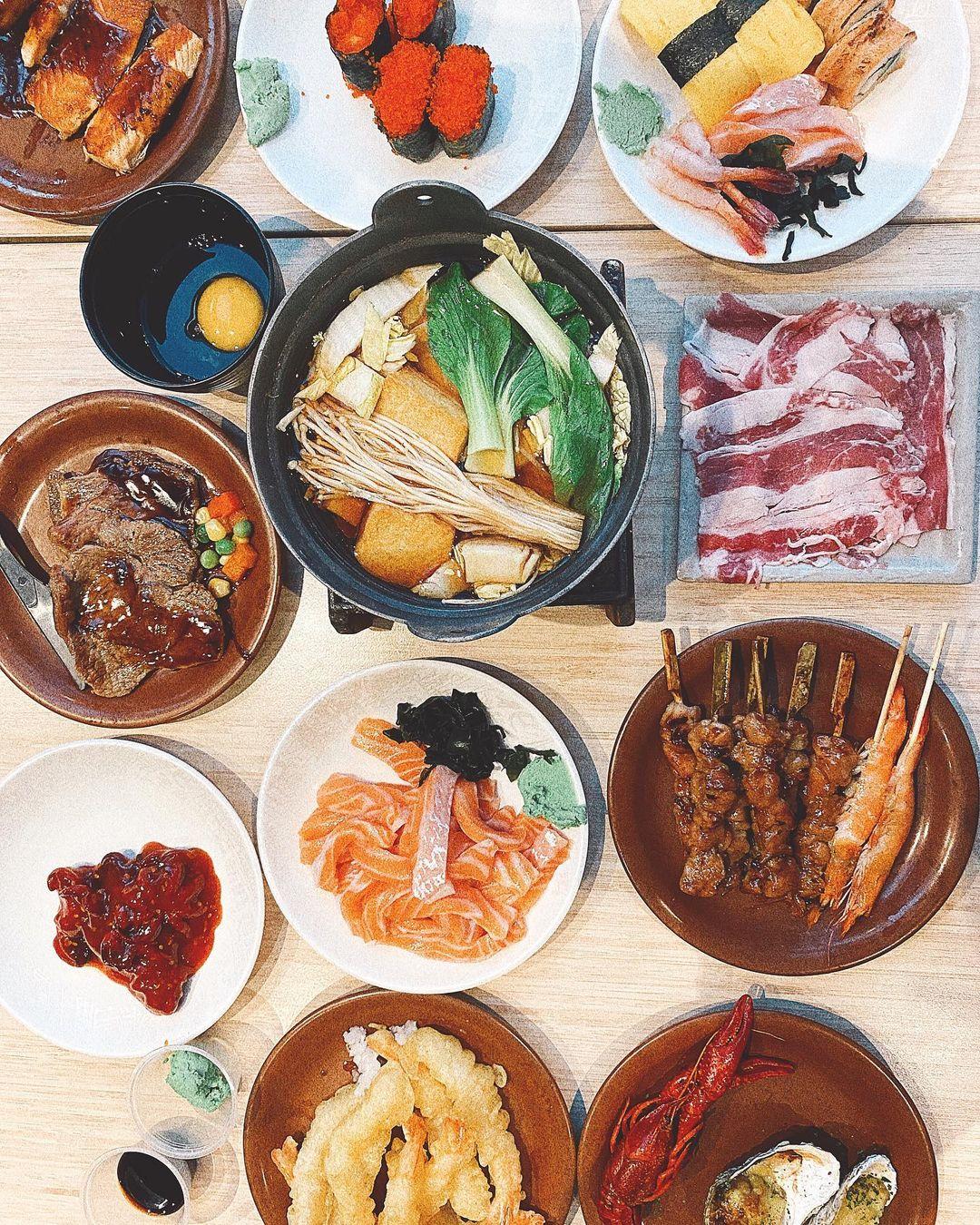 kiseki japanese buffet restaurant - flatlay 1