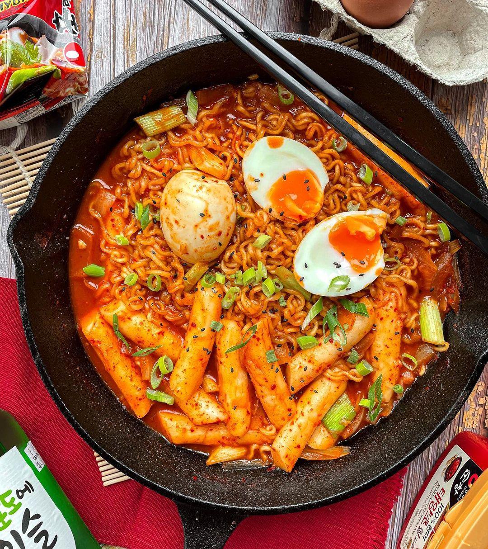 korean celebrity recipes - twice rabokki