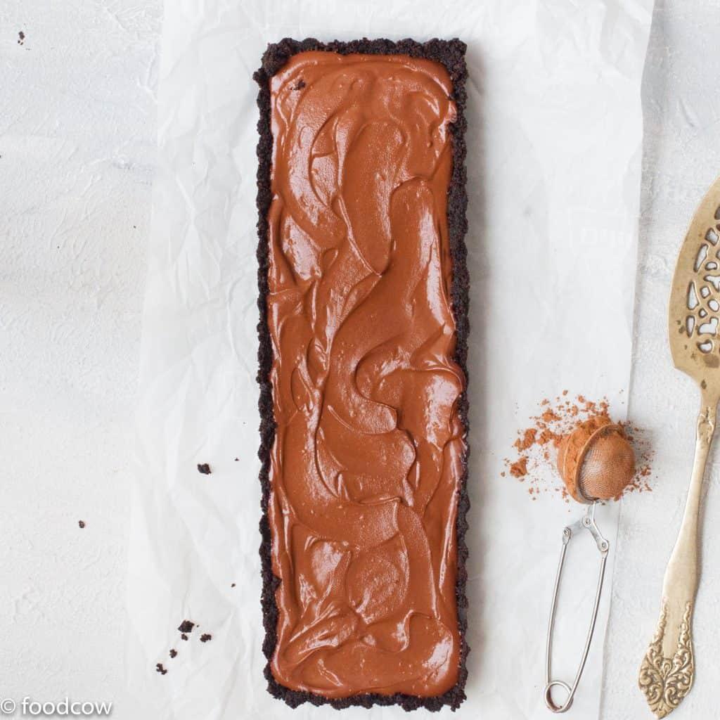 oreo bake chocolate tart