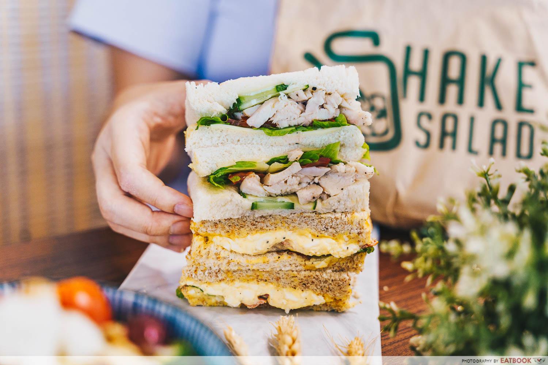 shake salad - sandwich