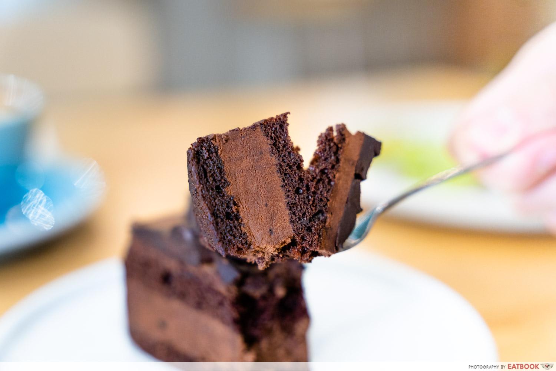 main street commissary chocolate cake fork