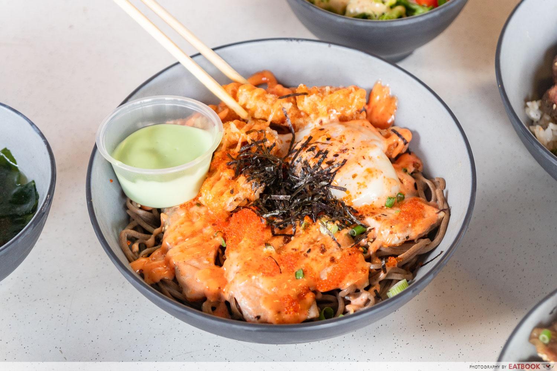 Donburi No Tatsujin - mentaiko soba salmon