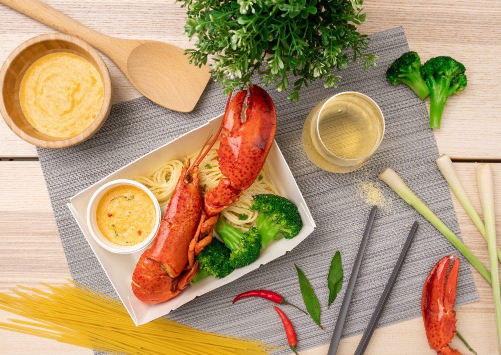 Half Lobster with Laksa Spaghetti