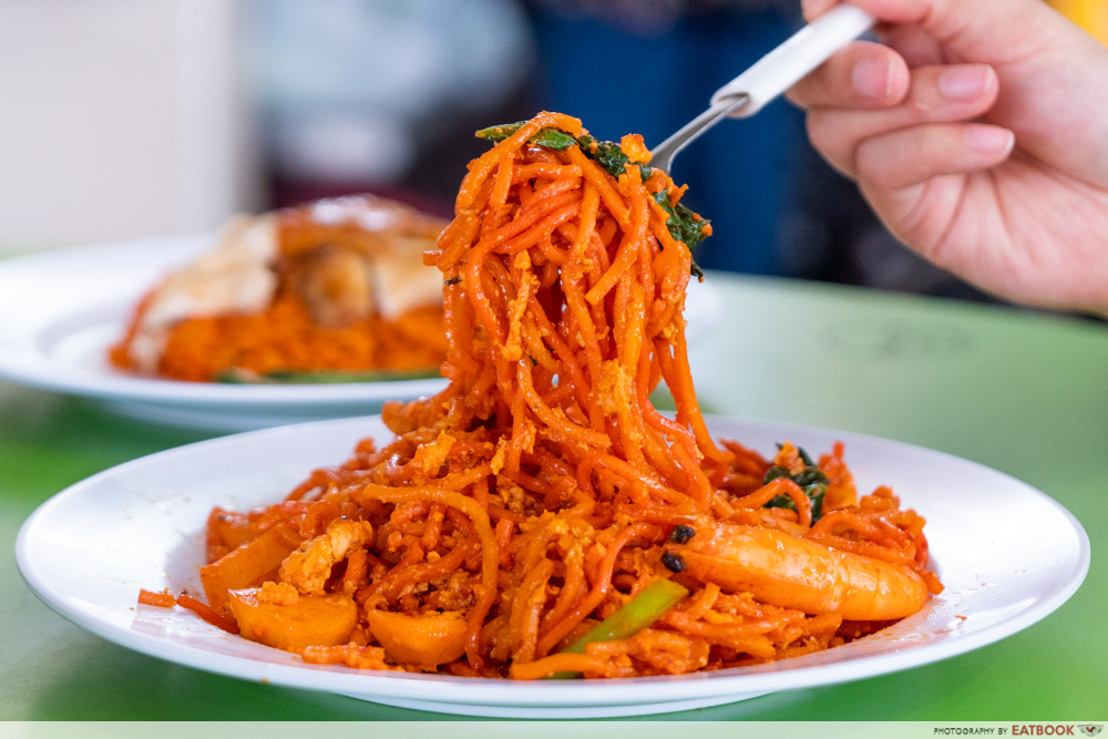 Jefri The Original Botak Chicken Rice - mee goreng noodle lift