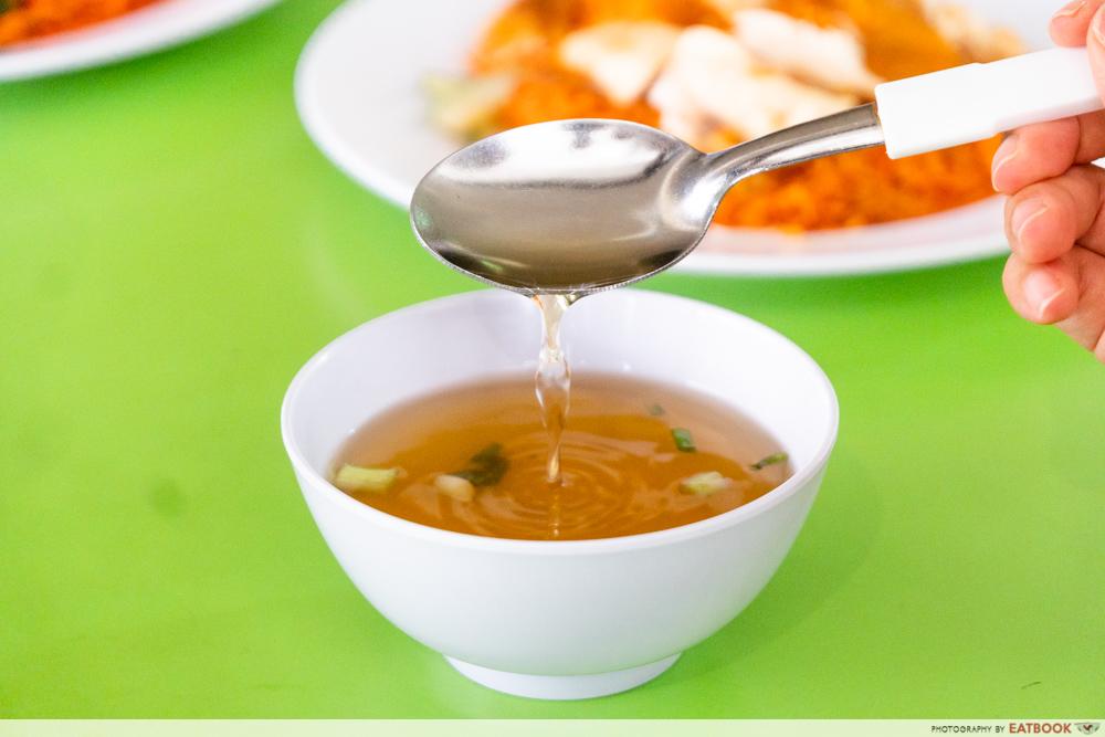 Jefri The Original Botak Chicken Rice - soup