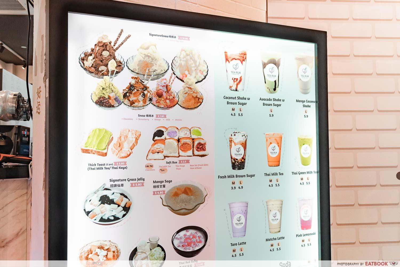 Tearuk Dessert Bar - Menu