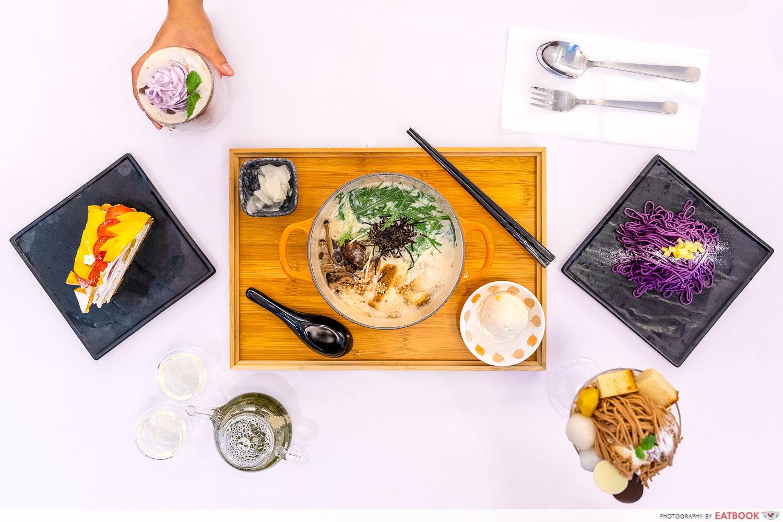 cafe kuriko - flatlay
