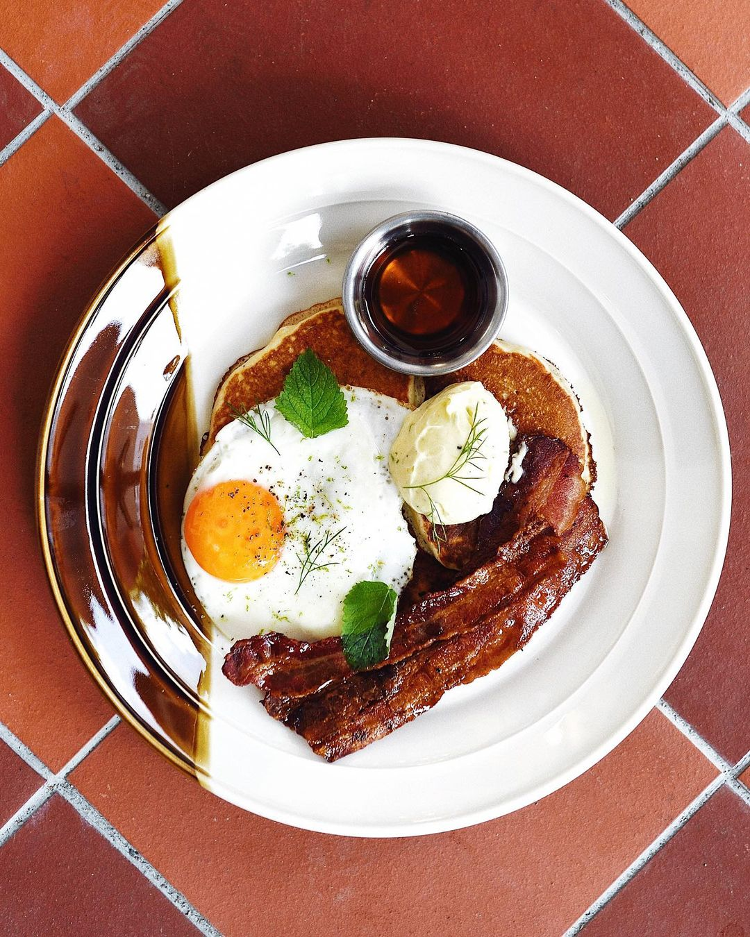 common man coffee roasters - savoury sourdough pancakes
