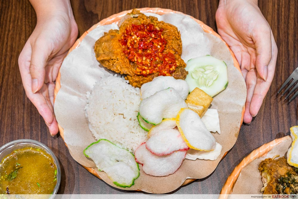 happy geprek - rice set
