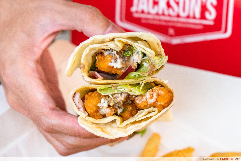 jackson's fried chicken - chicken wrap