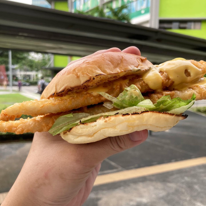 nacho fish burger interactive shot