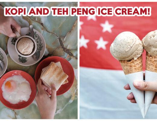 KOPI AND TEH PENG ICE CREAM CREAMIER
