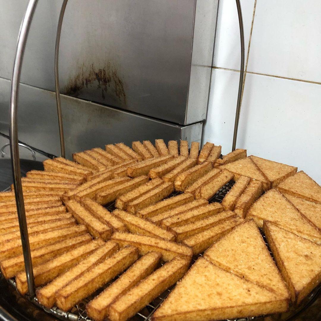 chai chee cai tou guo - frying