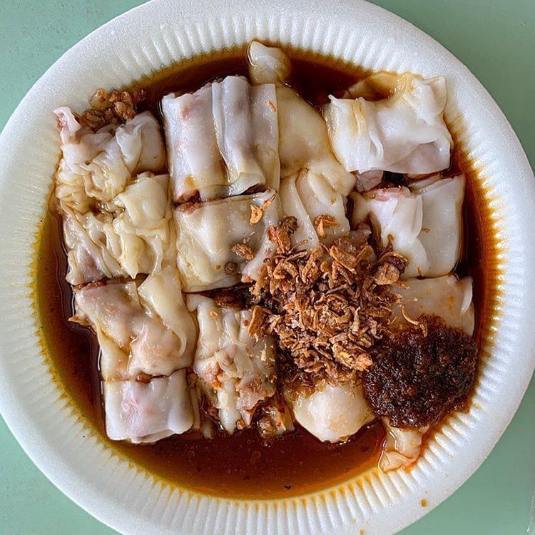 freshly made chee cheong fun