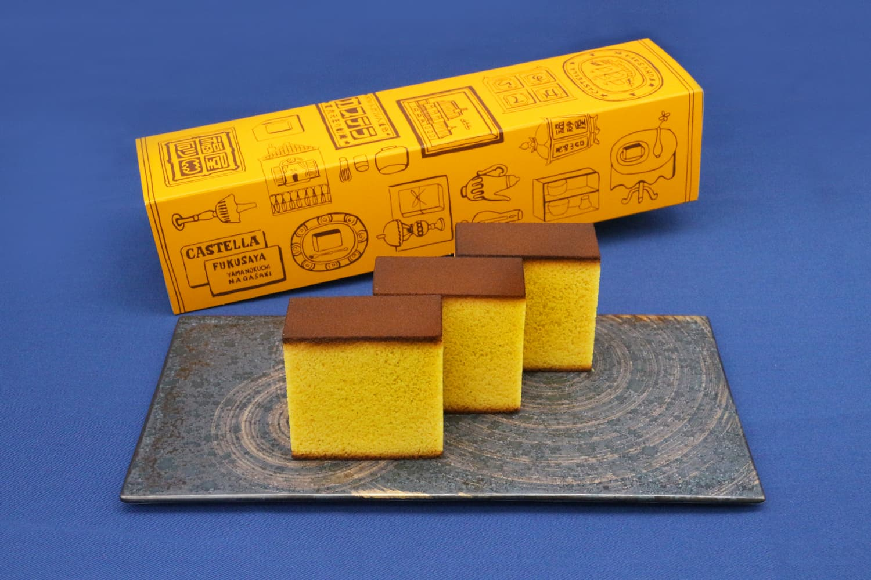 fukusaya castella cake in packaging