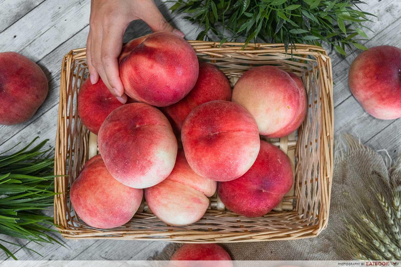 fukushima peaches - basket top
