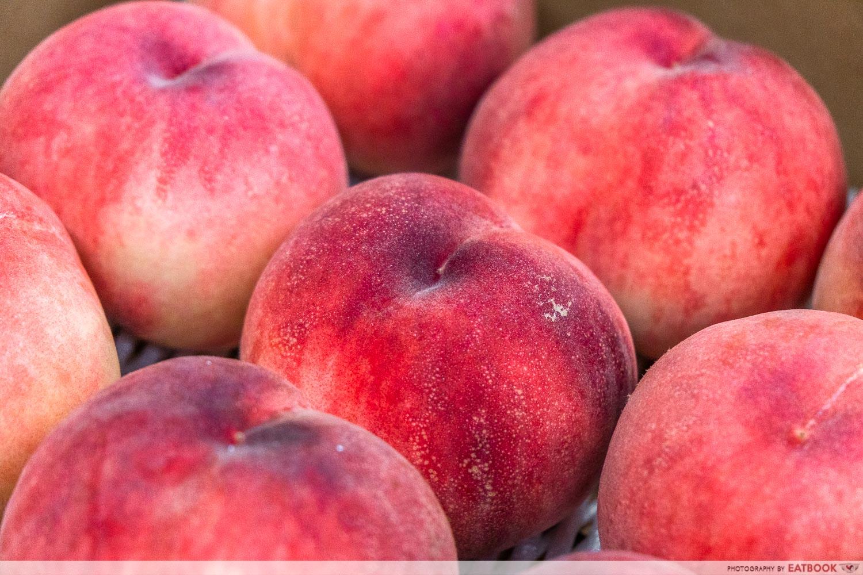 fukushima peaches - close up
