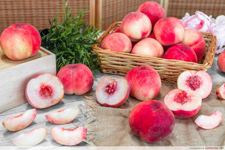 fukushima peaches - flatlaty