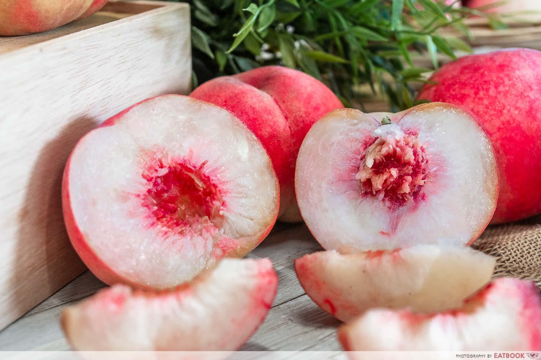 fukushima peaches - half peaches