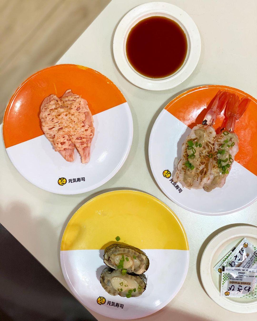 genki sushi flatlay
