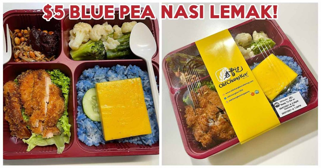 old chang kee blue pea nasi lemak bento - cover 2