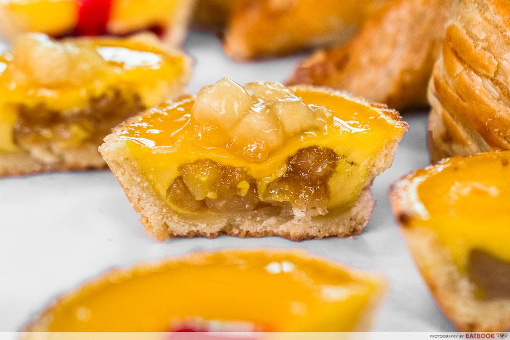 syiok - apple egg tart cross section