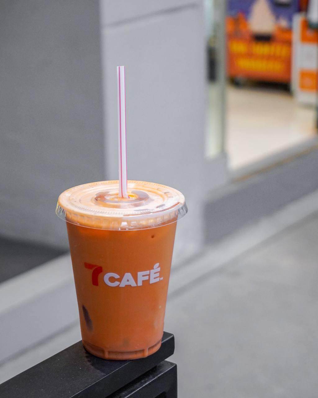 7-eleven thai food - thai milk tea