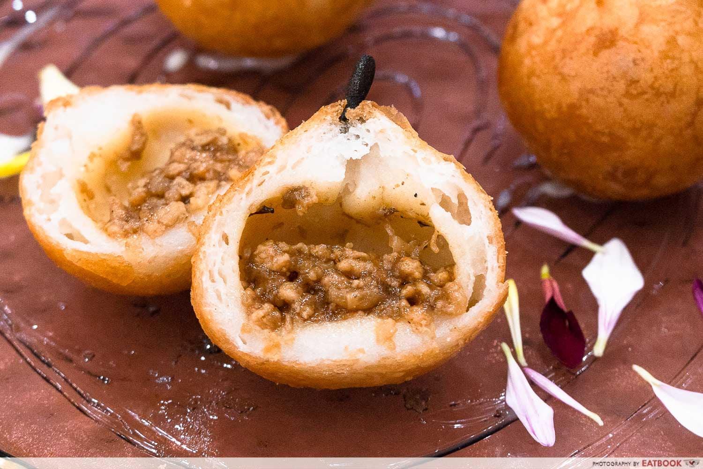 snow pear dumpling interactive shot