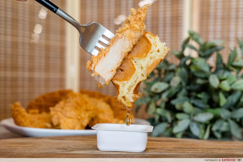 kfc waffles chicken set golden syrup dip