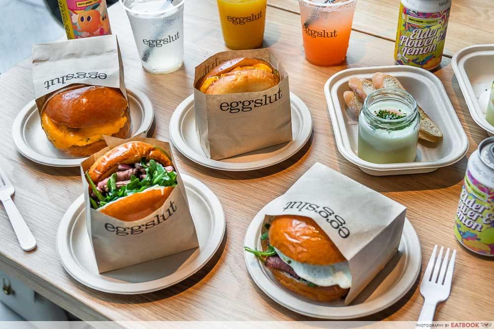 New restaurants in September - eggslut flat lay