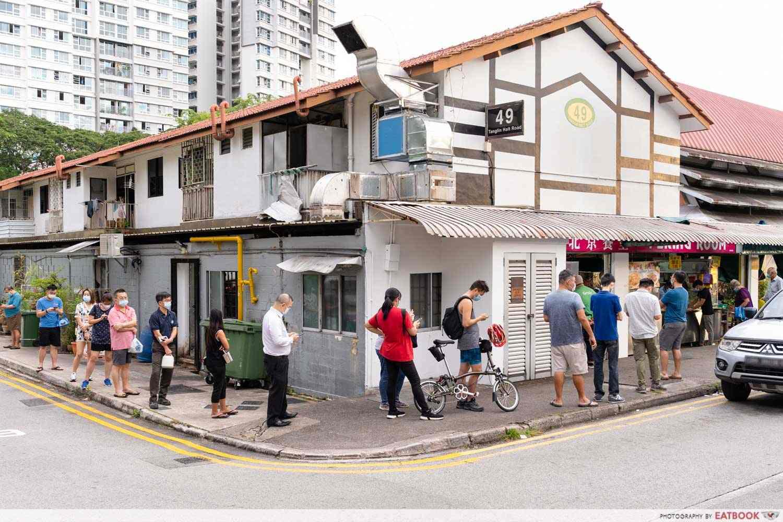 old village kl noodle commonwealth tanglin halt queue