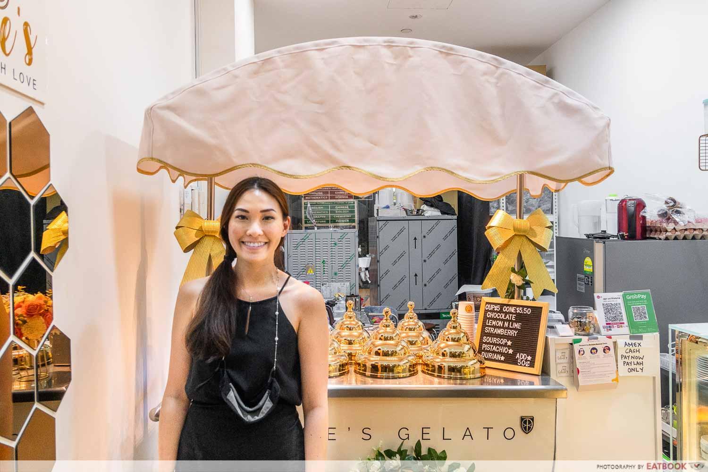 Celine's Gelato ice cream cart