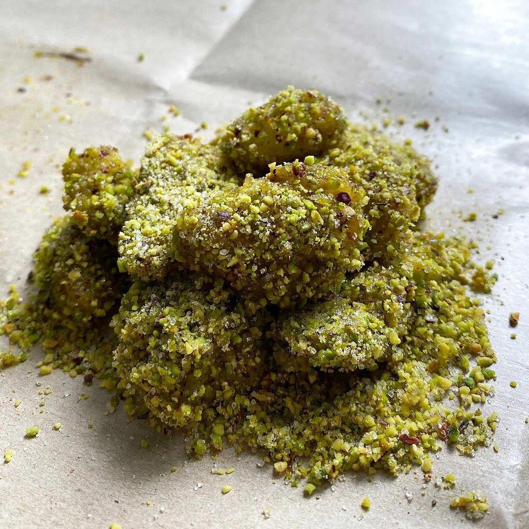 ah mah's legacy - salty pistachio muah chee