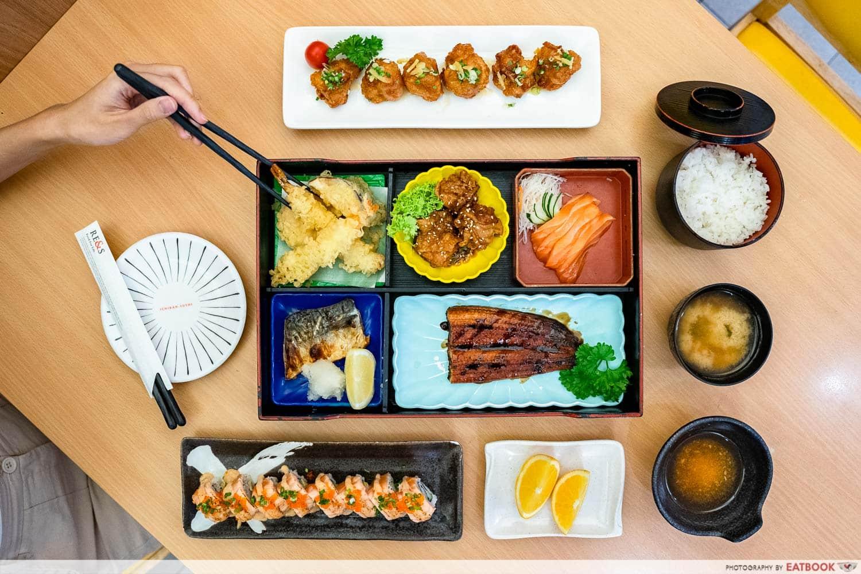 citi gourmet pleasures - ichiban sushi flat lay