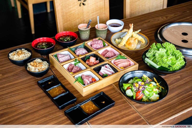 citi gourmet pleasures - tajimaya yainiku flat lay