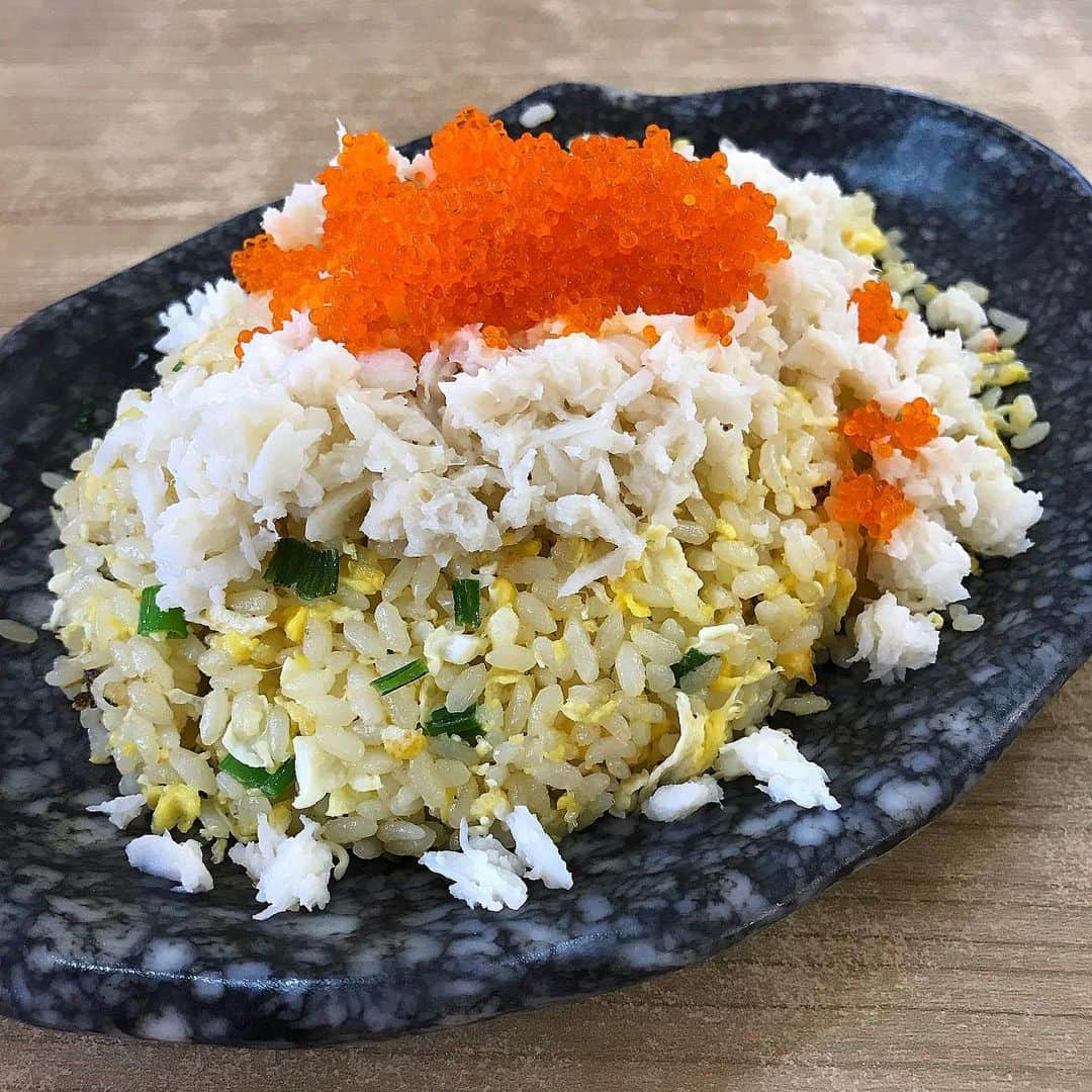 King Of Fried Rice Egg Fried Rice With Crabmeat and Tobiko