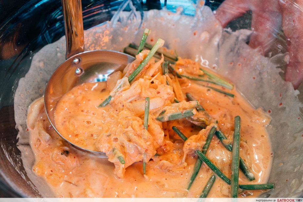 fairprice k gill - kimchi pancake batter