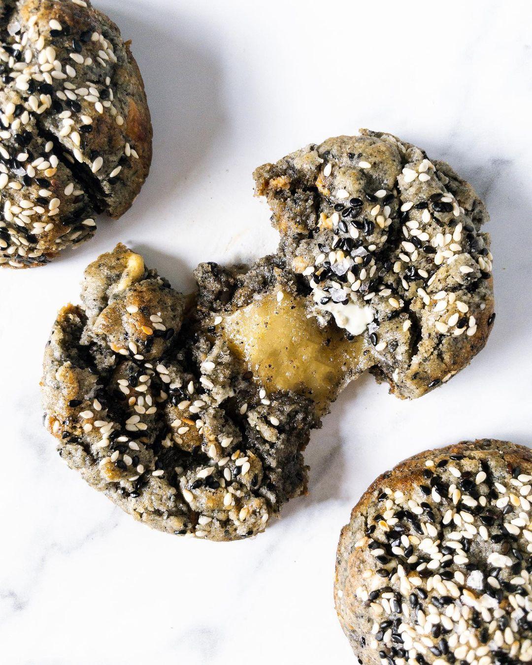for fudge sake - black sesame cookies