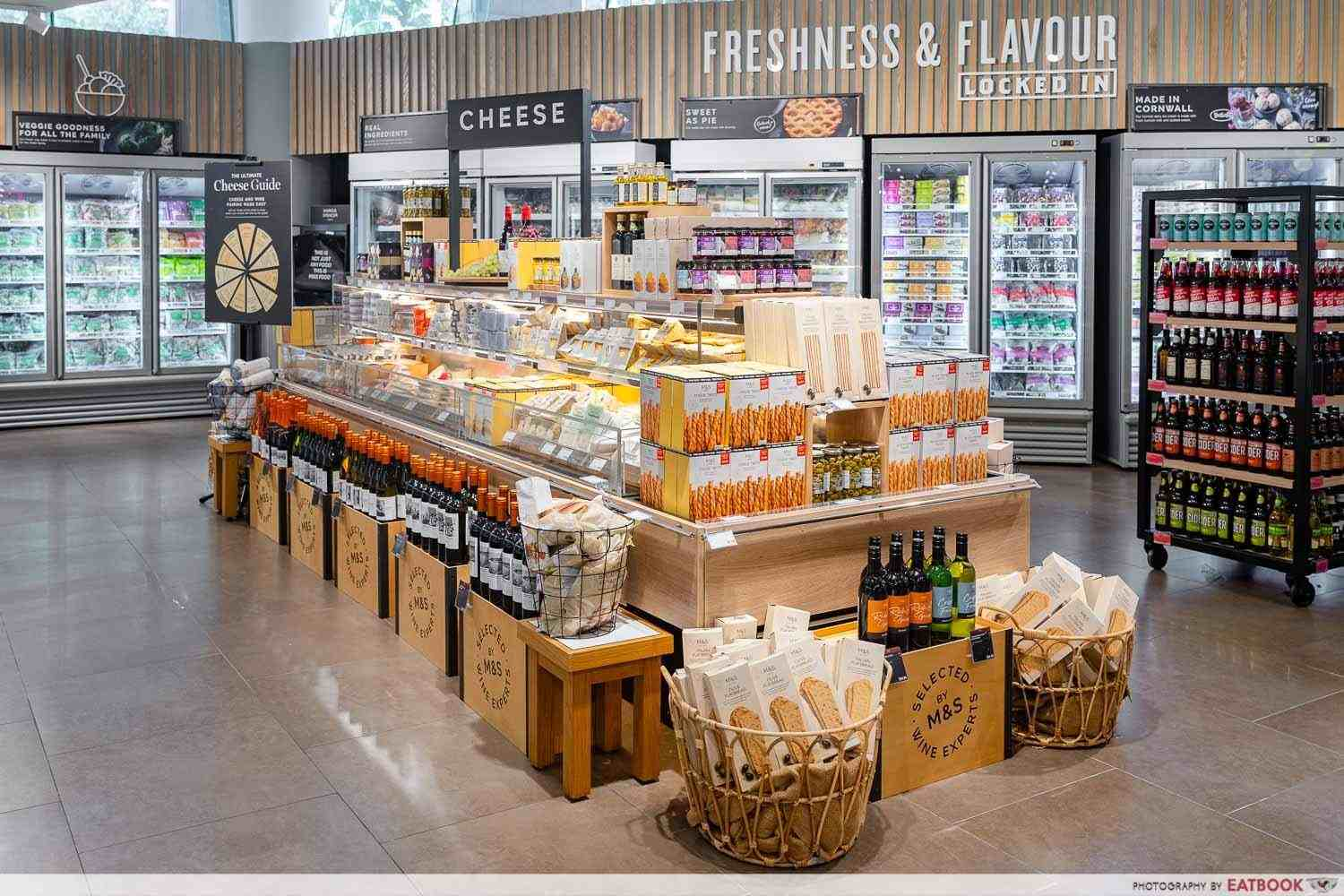 marks and spencer wheelock place cheese section