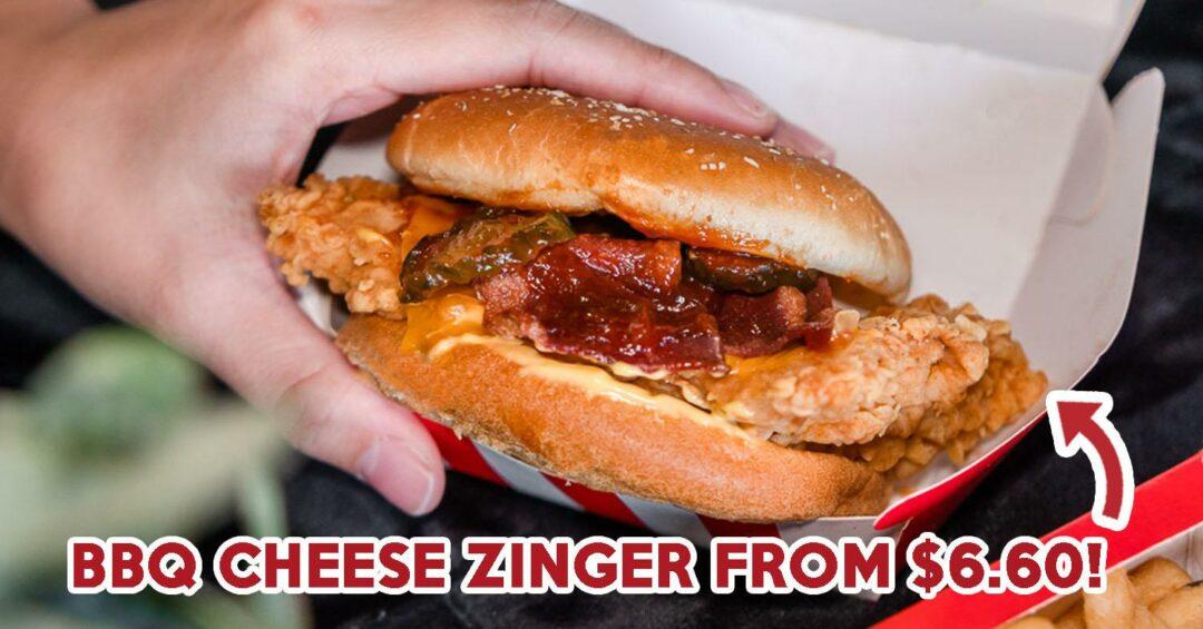 kfc bbq cheese zinger burger
